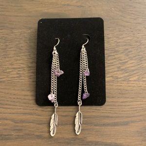 💜Just In💜 Handmade Amethyst Earrings